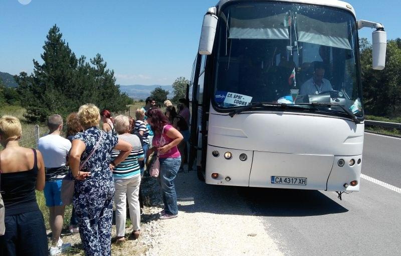 Българи закъсали с автобус