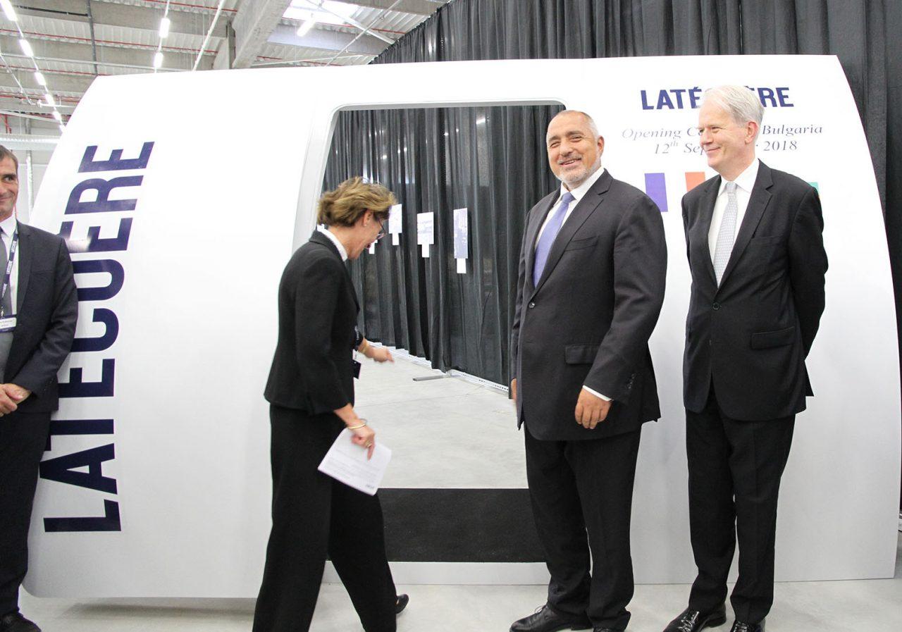 Бойко Борисов на официалното откриване на завод за оборудване в самолетостроенето край Пловдив09