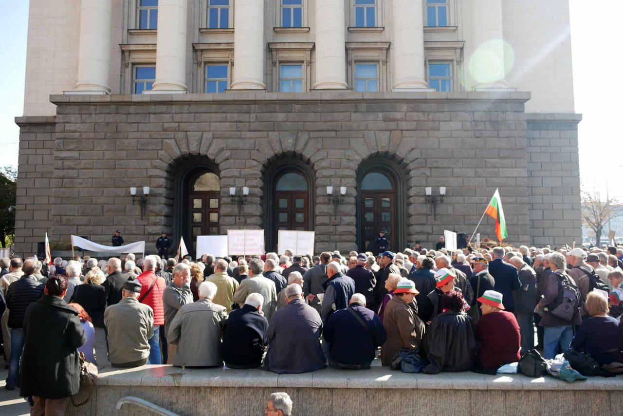 Национален протест на пенсионерите пред министерски съвет (11)