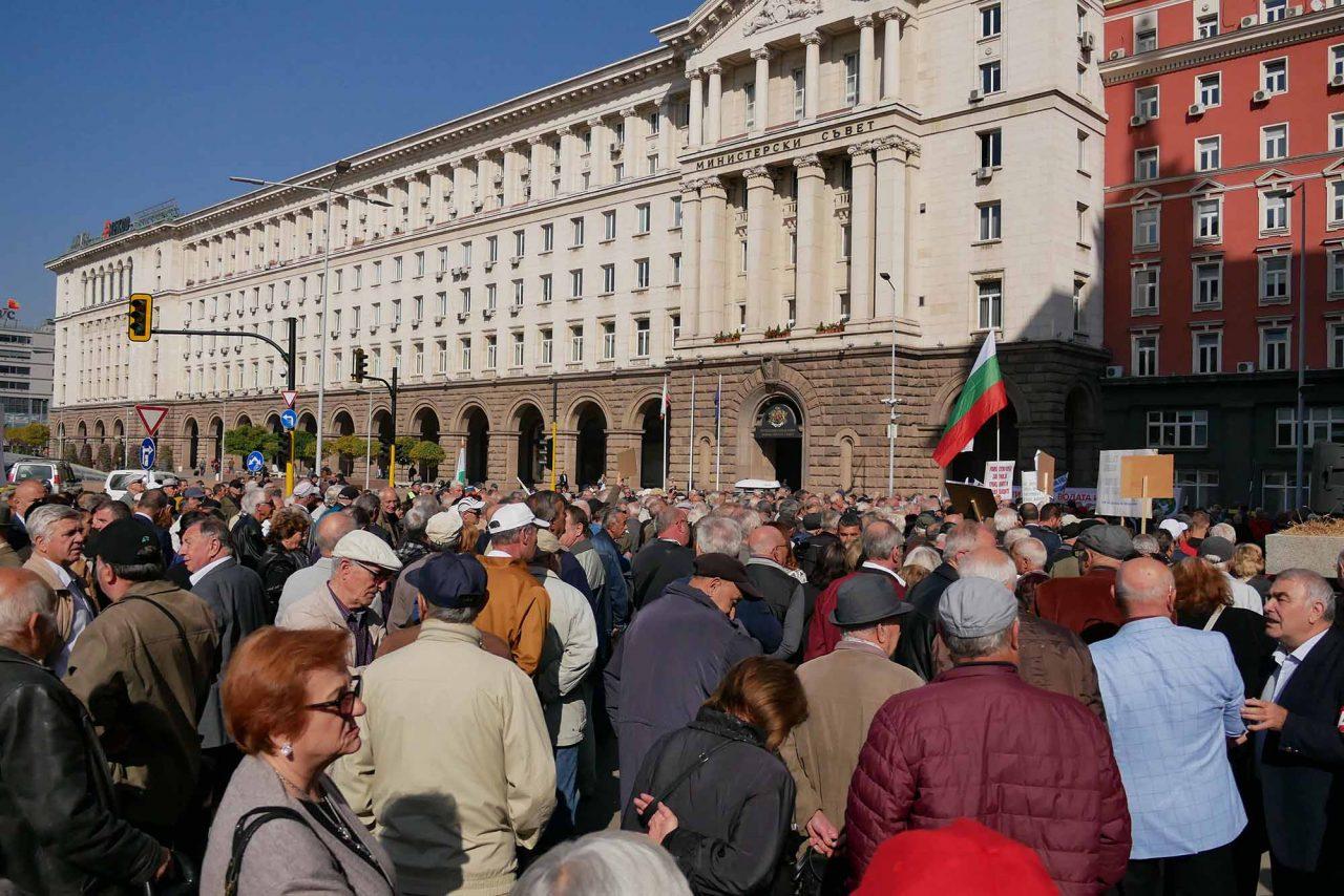 Национален протест на пенсионерите пред министерски съвет (12)