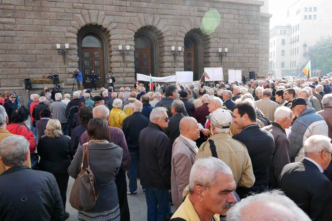 Национален протест на пенсионерите пред министерски съвет (8)