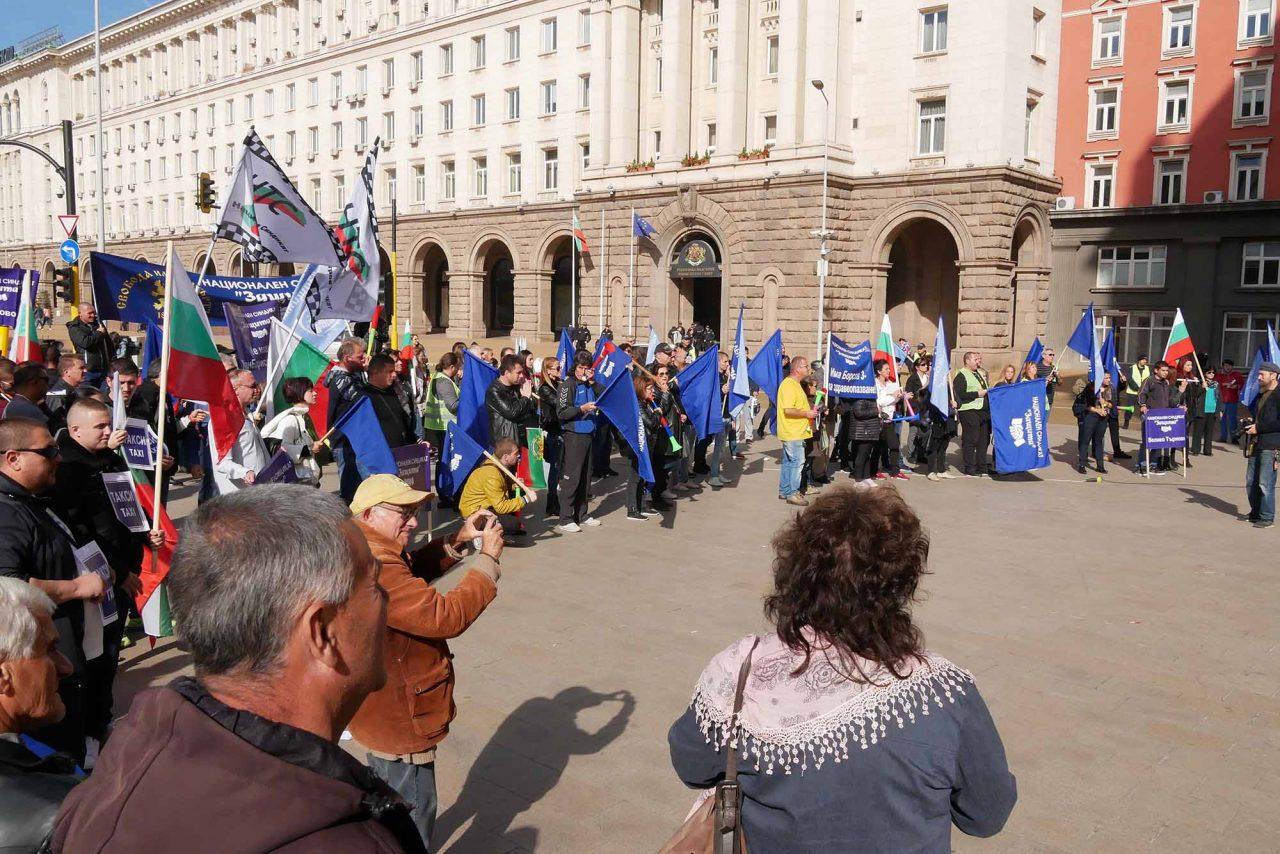 Протест против цените на горивата пред министерски съвет (1)