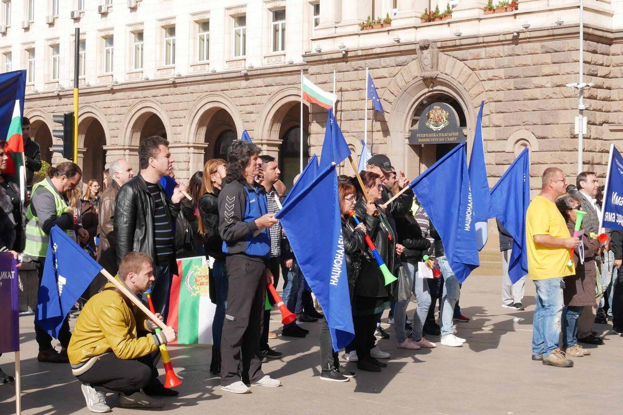 Протест против цените на горивата пред министерски съвет (3)