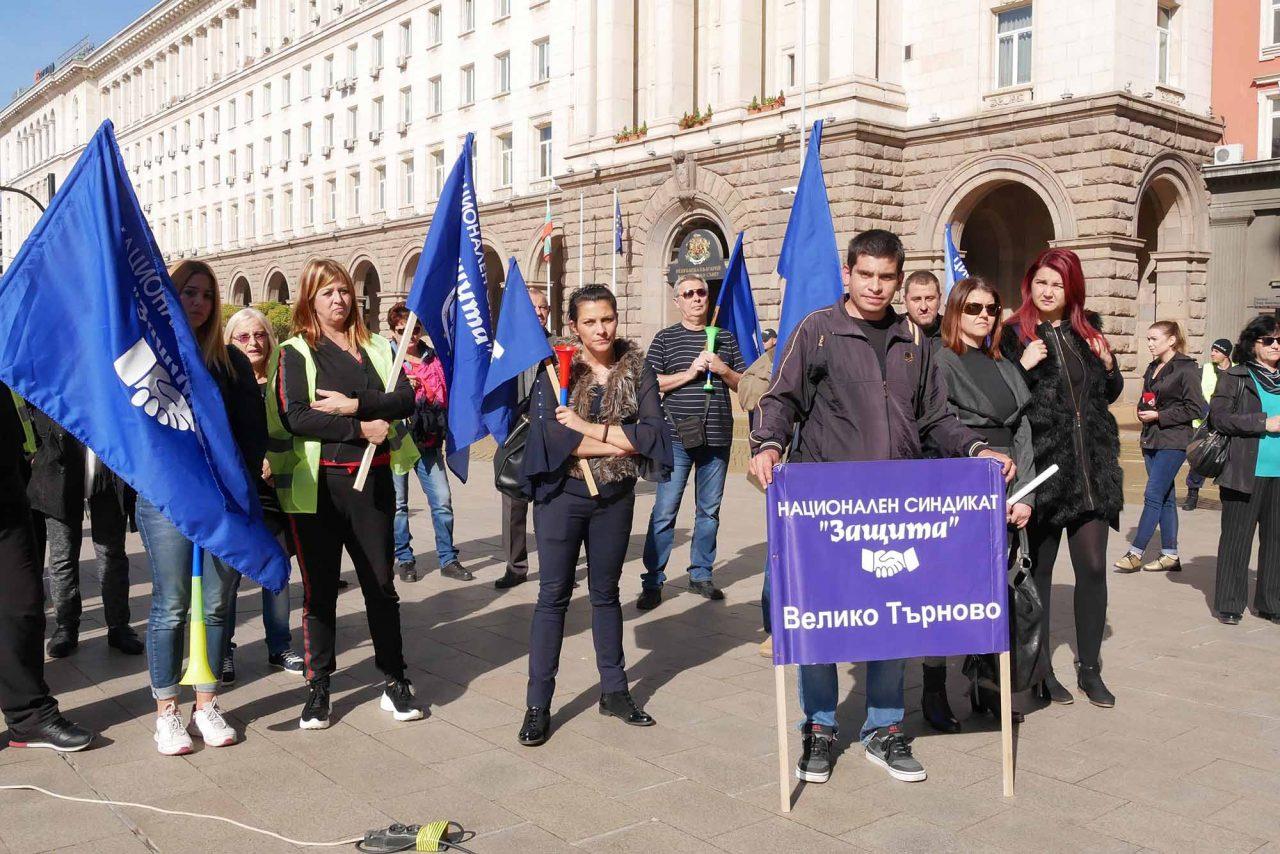 Протест против цените на горивата пред министерски съвет (5)