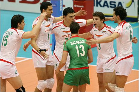 Bulgaria's team celebrates