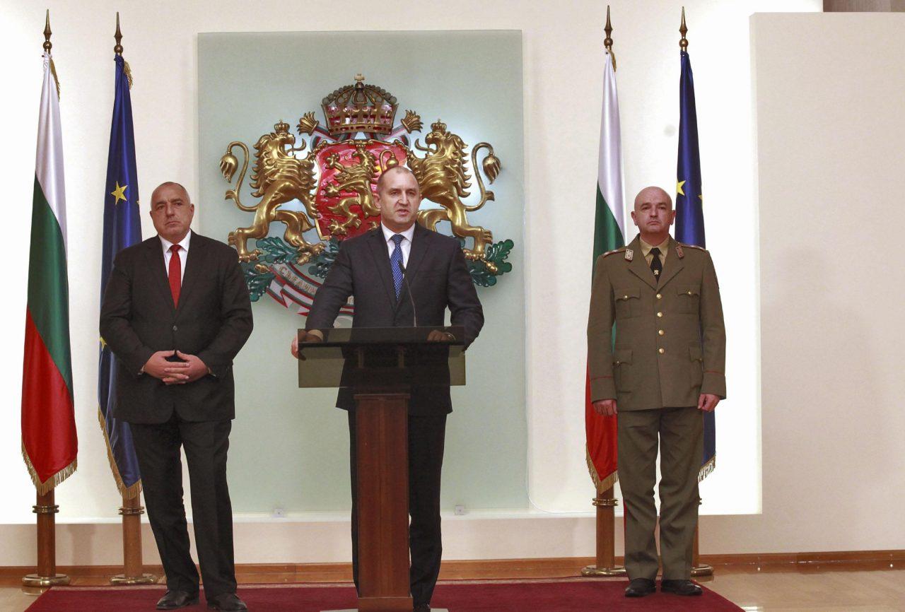 Бойко Борисов, Генерал Мутафчийски, Румен Радев