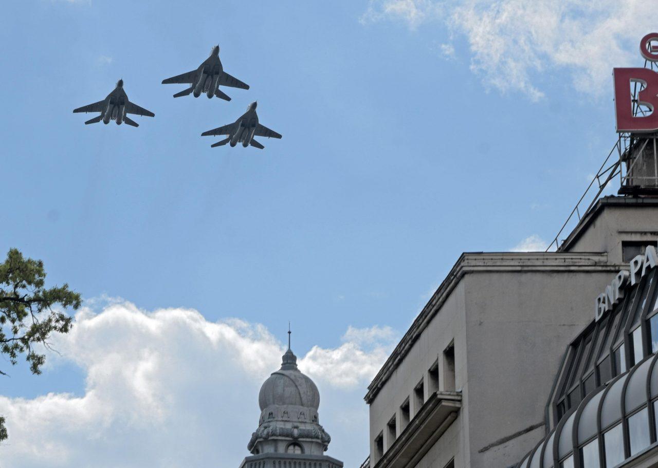 Военен парад, Самолети